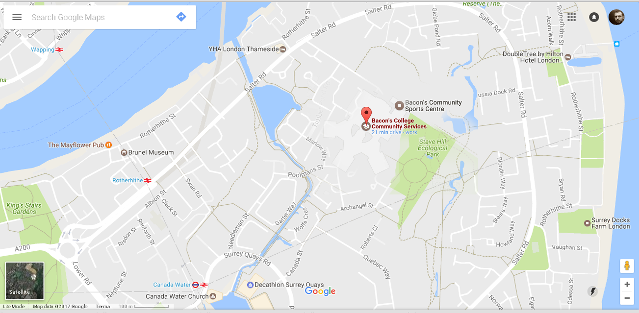 Location - opens google maps